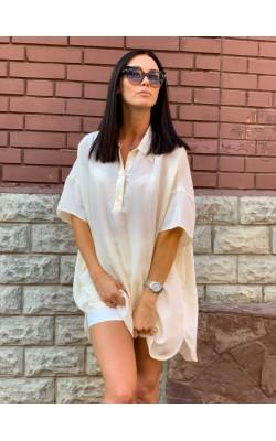 Рубашка-туника Uniqlo U светлая из вискозы