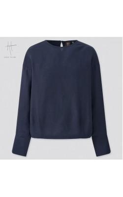 Блуза  Uniqlo+Hana Tajima темно-синего цвета