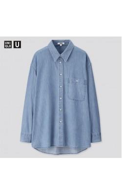 Рубашка джинсовая Uniqlo в синем оттенке