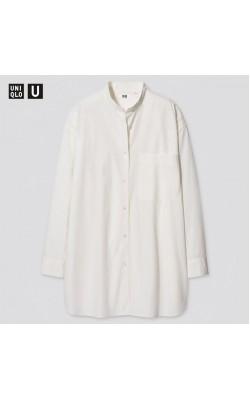 Рубашка Uniqlo U белая оversized