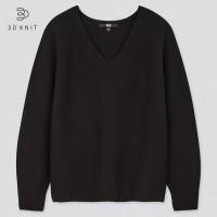 Свитер коллекции 3D knit Uniqlo черный