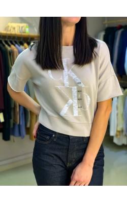 Свитшот укороченый Calvin Klein Jeans светлый