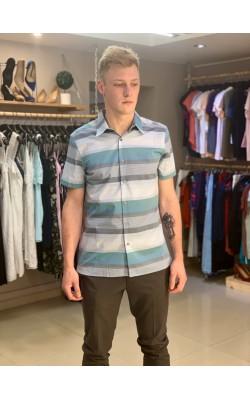 Рубашка в полоску Perry Ellis