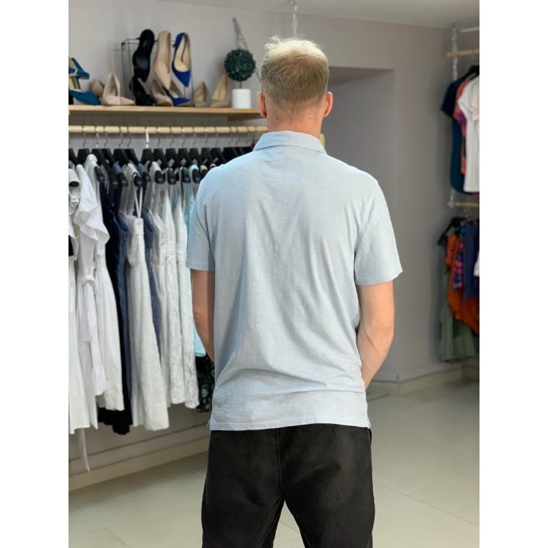 Голубая футболка-поло Calvin Klein