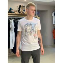 Белая футболка с принтом Abercrombie & Fitch