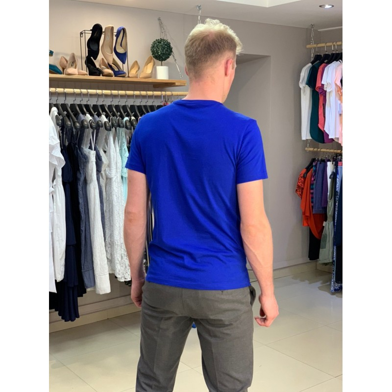 Синяя футболка с принтом  Calvin Klein