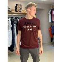 Бордовая футболка Abercrombie & Fitch