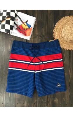 Синие пляжные шорты Hollister