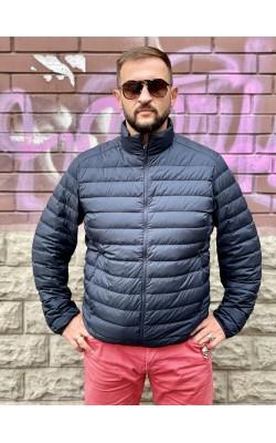 Куртка Uniqlo на пуху темно-синяя