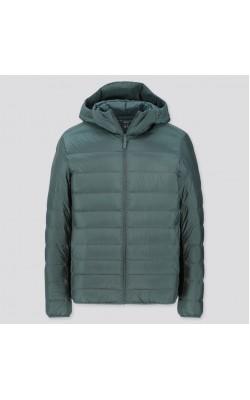 Куртка с капюшоном Uniqlo темно-зеленая