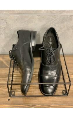 Черные кожаные туфли Calvin Klein