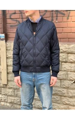 Темно-синяя стеганая куртка на пуху Uniqlo
