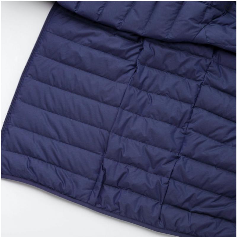 Синяя легкая куртка на пуху Uniqlo