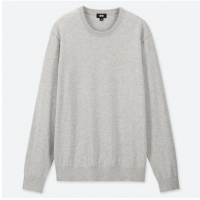 Серый хлопковый свитер Uniqlo