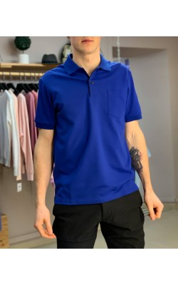 Классическая футболка-поло Uniqlo в синем цвете