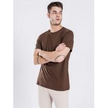 Базовая футболка Uniqlo темно-коричневая
