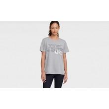 Серая футболка с принтом DKNY