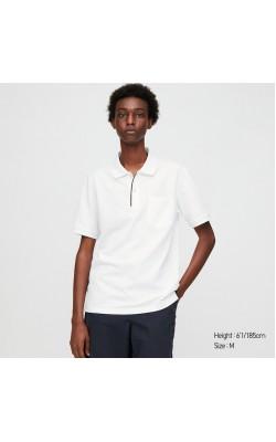 Классическая футболка-поло Uniqlo белая