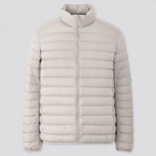 Куртка Uniqlo на пуху ультралегкая светло-серая