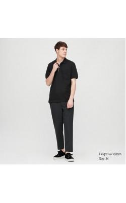 Классическая футболка-поло Uniqlo в черном цвете