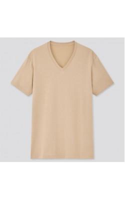 Бежевая футболка UNIQLO
