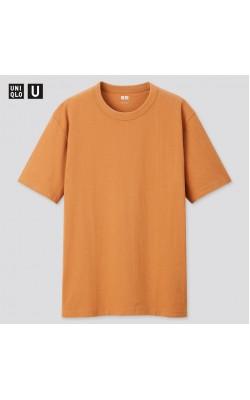 Футболка Uniqlo U оранжевая CREWNECK