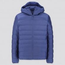 Куртка Uniqlo с капюшоном синяя