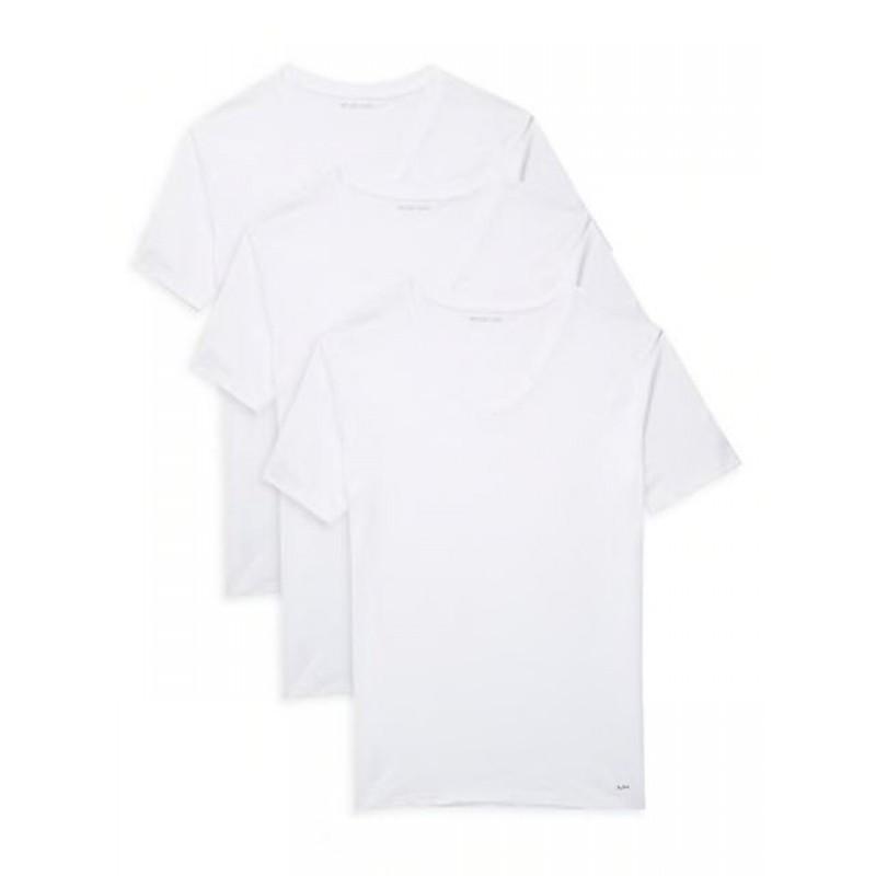 Набор футболок Michael Kors белых с v-образным вырезом