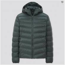 Куртка Uniqlo с катюшоном темно-зеленая