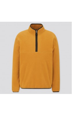 Пуловер мягкий Uniqlo флисовый желтый