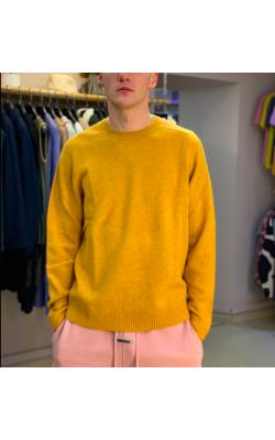 Cвитер Premium Lambswool Uniqlo желтый