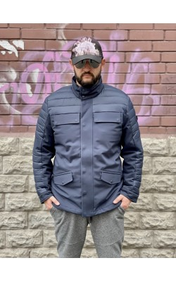 Стеганная куртка Michael Kors утепленная темно-синяя