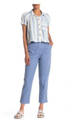Голубые льняные брюки  Know One Cares