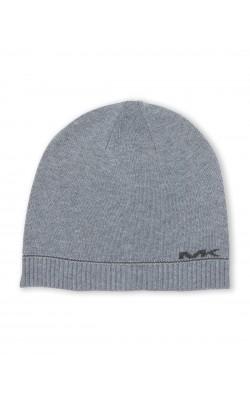 Серая шапка с логотипом от Michael Kors