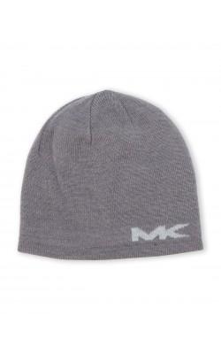 Серая мужская двусторонняя шапка Michael Kors
