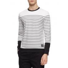 Лонгслив Calvin Klein белый в полоску