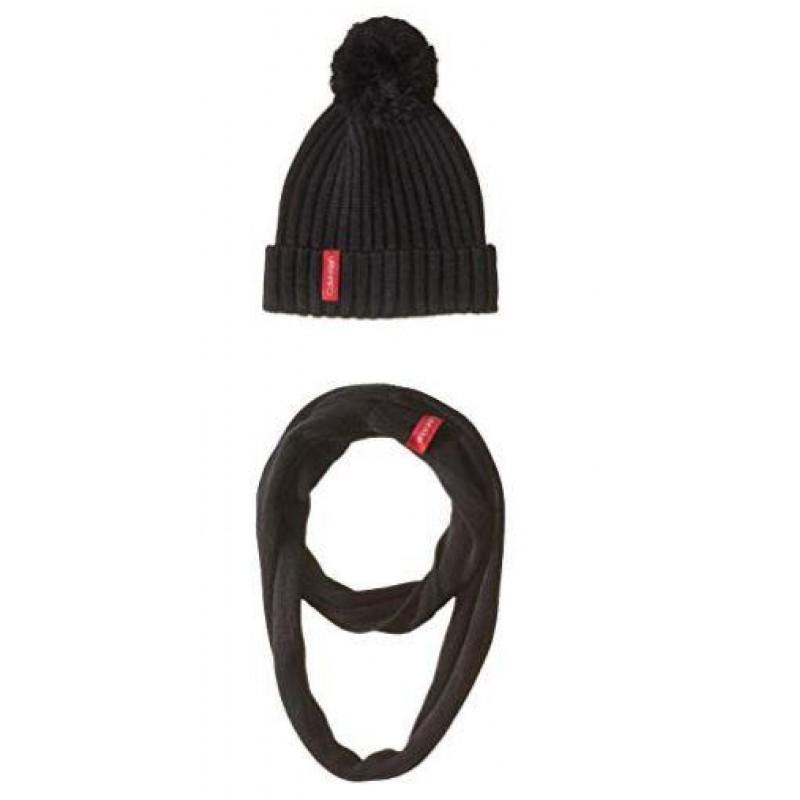 Черный комплект (снуд + шапка) Calvin Klein
