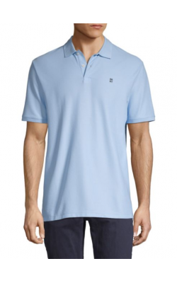 Голубая футболка-поло DKNY