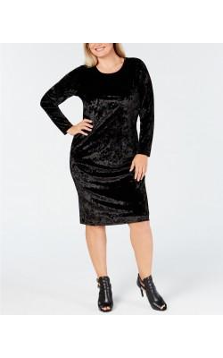 Черное велюровое платье Michael Kors