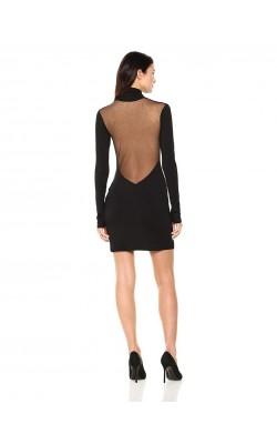 Чёрное платье с кружевной спинкой Kendall+Kylie