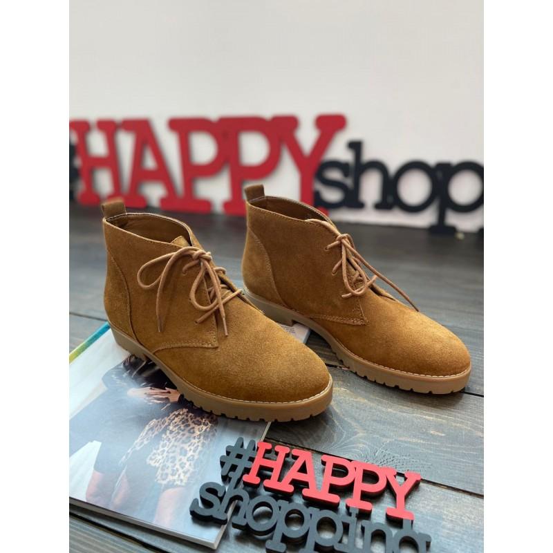 Коричневые ботинки Ralph Lauren