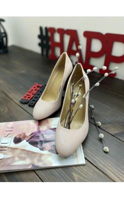 Туфли Michael Kors пудровые толстый каблук Susan Flex Pump