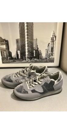 Cерые  кроссовки  Philippe Model