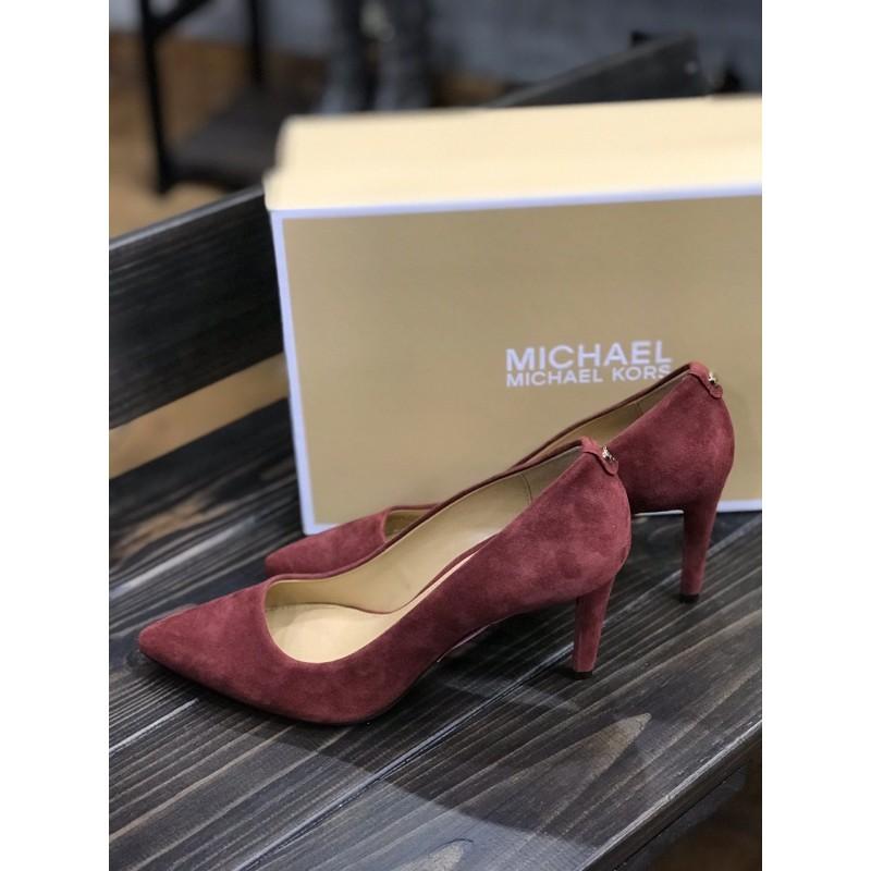 Замшевые туфли Michael Kors в благородной оттенке бренди