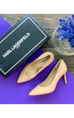 Нюдовые туфли-лодочки Karl Lagerfeld Paris
