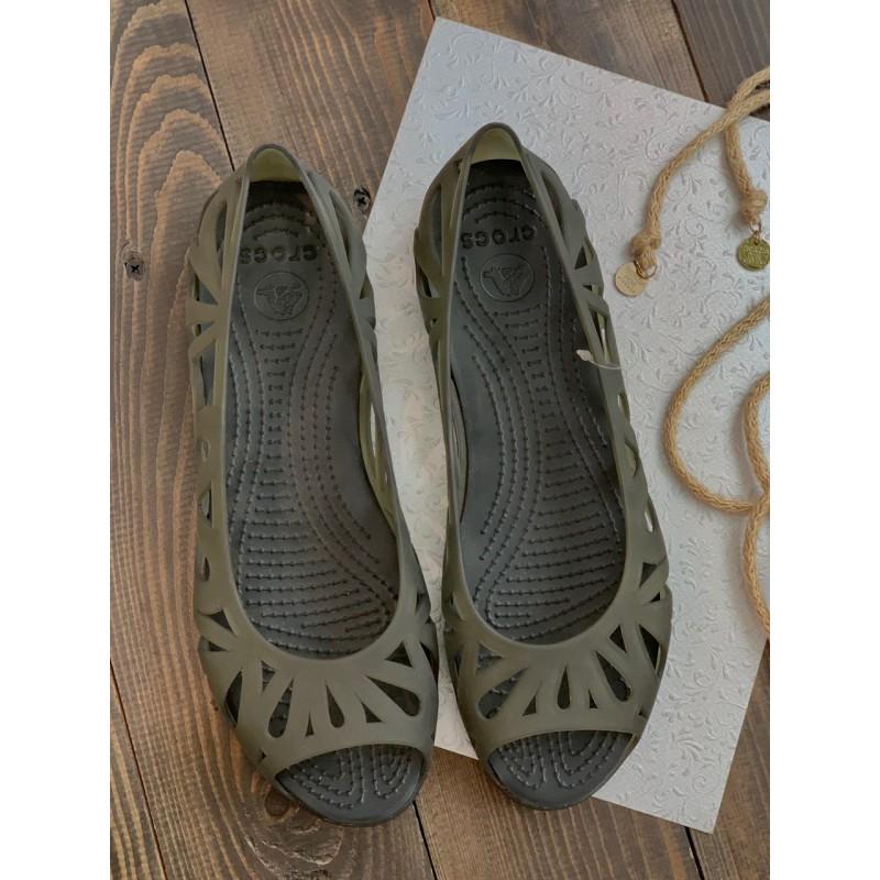 """Черные балетки """"Adrina III peep toe"""" Crocs"""
