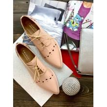 Розовые  туфли с перфорацией TWIN SET