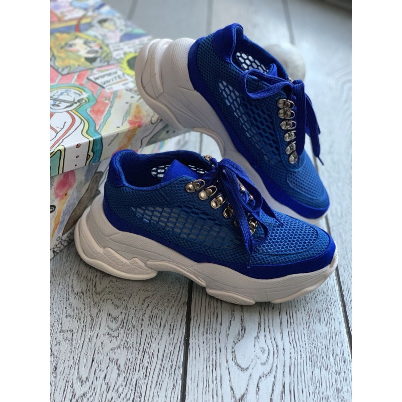 Синие кроссовки Jeffrey Campbell