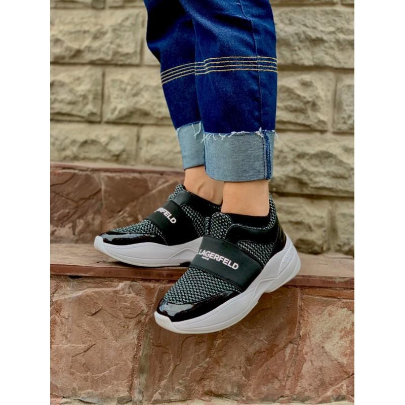 "Черные кроссовки ""Zaidee"" Karl Lagerfeld Paris"