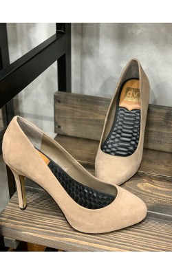 Бежевые замшевые туфли Dolce Vita